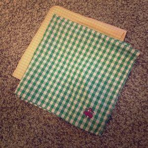 Set of 4 Pocket Squares Ike Behar & Brooks Bros